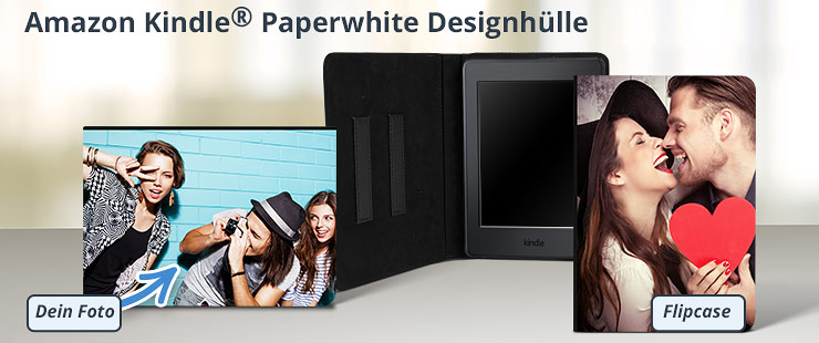 Deine individuekke Amazon Kindle Paperwhite Fotohülle