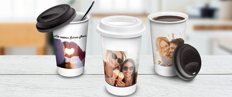 Coffee To Go Becher Mit Foto Bedrucken