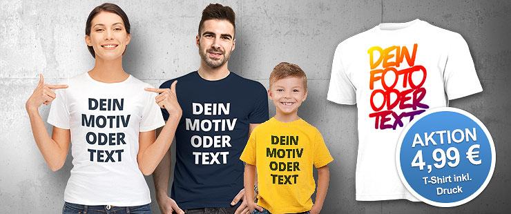 Dein T-Shirt-Shop von PhotoFancy.de