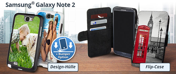 Samsung Galaxy Note 2 Hülle bedrucken
