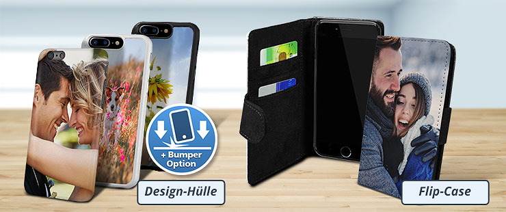 Apple iPhone Fotohüllen als Hardcase und Flip-Cases